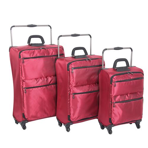Internatinal Traveller (Landor & Hawa) IT-0-4  World's Lightest Weight 4-Wheel Drive Luggage  - Red