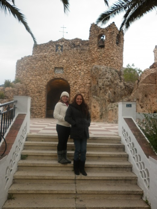 My sister and me, in Mijas Pueblo
