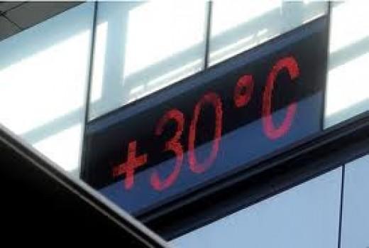 Temperature on Mercury building 30th Sept 2011
