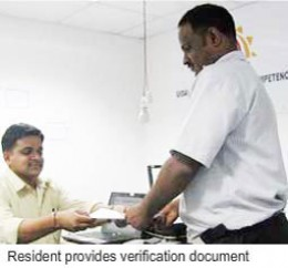A resident just like you provides documents of POI and POA to the enrollment officer