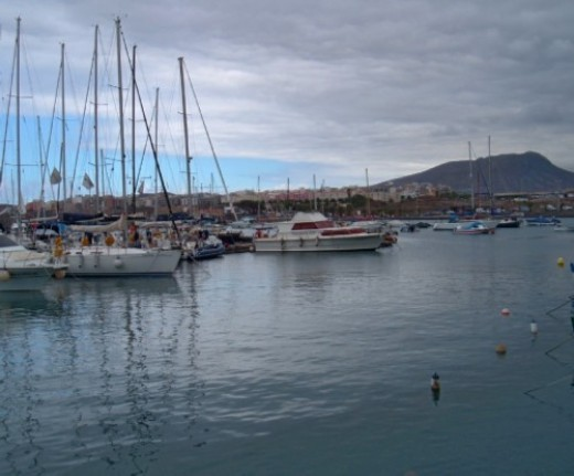 Boats in Las Galletas marina
