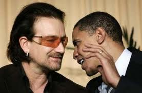 "Obama: ""I just won the f*cking Nobel Peace Prize""!    Bono: ""The hell you say."""