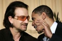 """Obama: """"I just won the f*cking Nobel Peace Prize""""!    Bono: """"The hell you say."""""""