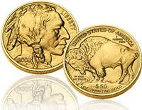 The Buffalo Nickel design was also used for the $50 gold coin beginning in 2006.