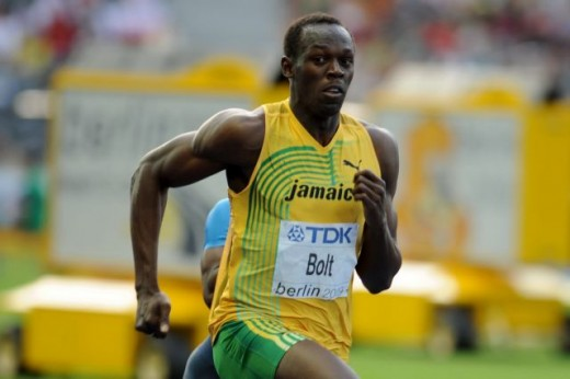 Usain Bolt at the World Championship Athletics 2009 in Berlin