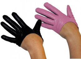 Seriously stylish leather half gloves.