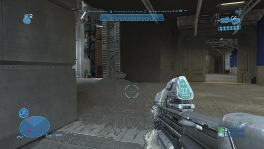 This is how players appear when active camo is at it's best- as a faint shimmering shape.