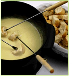 Cheese fondue remains a favorite.