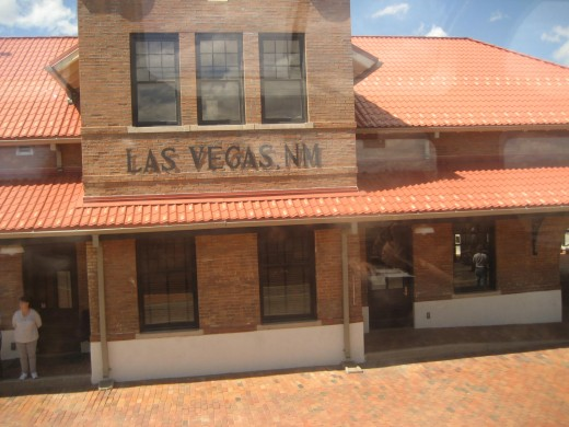 Train stop in Las Vegas, New Mexico, didn't know there was such a town, huh, neither did I.