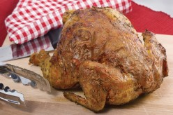 Cooked whole chickens come in a variety of flavors in the grocery stores. Don't be afraid to try all of the flavors in your soup.