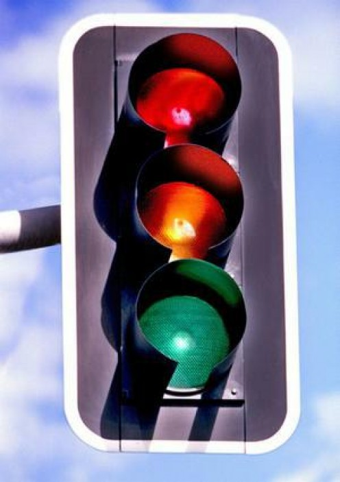 The older model traffic signal
