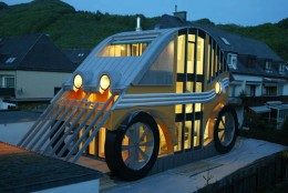 """This one caught my eye just because it IS so different from others! It is a """"car house"""" in Austria."""