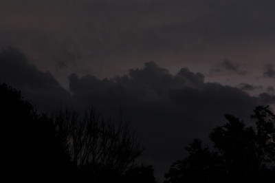 The Heavy black louds coming in from the North. Building up and rolling forward with increasing speed.