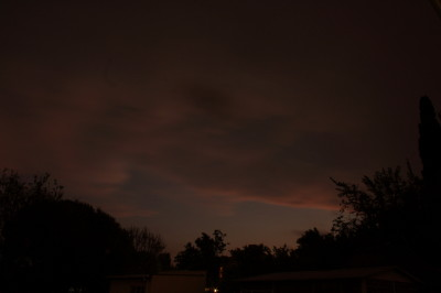 The sunset now almost obscured by the threatening, impending storm.