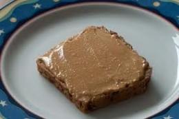 A tasty homemade peanut butter sandwich.