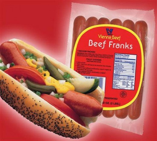 Vienna Beef hot dog kits include everything to make an authentic Chicago hot dog, including Vienna franks, authentic toppings, and sesame seed buns.