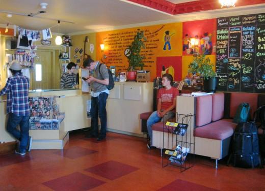 The Lobby at the hostel.