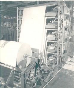 Paper rolling machinery at IP kraft mill, Camden, Arkansas