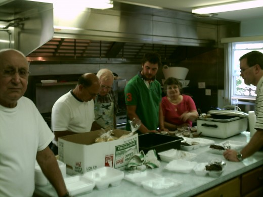 Volunteers who served meals displayed team work, care and a great sense of levity as each person searched for ways to better relieve others' burdens.