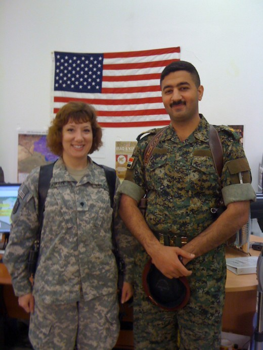 An Iraqi officer and I