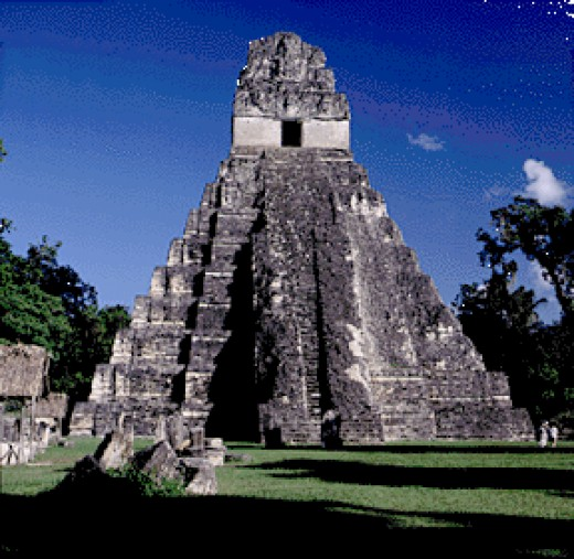 A Mayan temple: Their calendar ominously ends in 2012