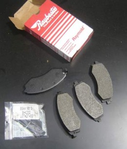 From word of mouth I have found that Ray Bestos has a good line of selection when it comes to brake parts, including Front Brake Pads, shown in this photo. When choosing brake pads for your vehicle always go with what the manufacturer suggests.