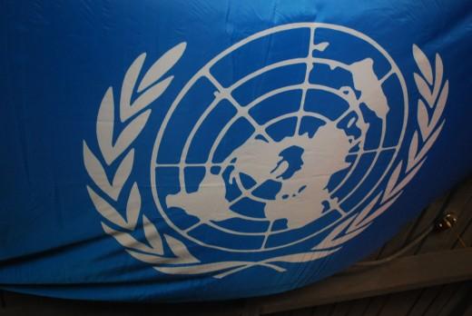 The UN flag.