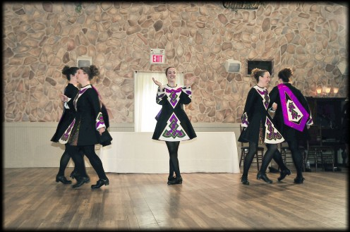 A local group of Irish dancers came out to perform during our main course