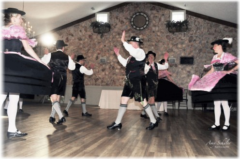 A German dance club came and performed for us while we ate our wedding cake