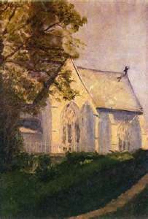 """Church at Blainville"" (1902)"