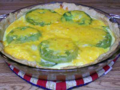 Green Tomato & Egg Quiche