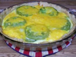 Green Tomato & Egg Quiche