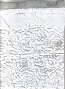 Quilted material,  very thin layer of cotton