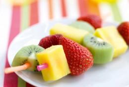 Yummy fruit kebab.
