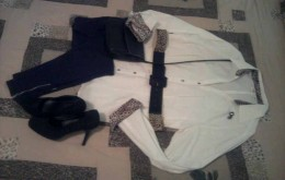 White moves into winter with leggings and animal print accents accessories.