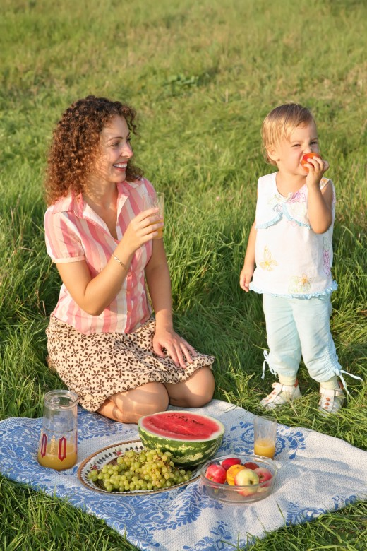 Picnics are great family activities.