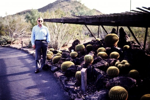 My hubby at the Desert Botanical Garden