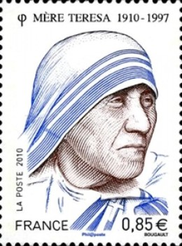 A French Postage stamp on Mother Teress