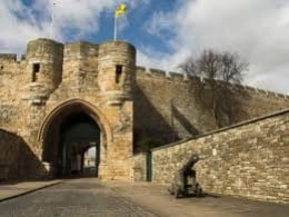 One of the gateways of Lincoln Castle - see this one from the main A15 road