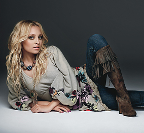 Nicole Richie in Native American Style Clothing