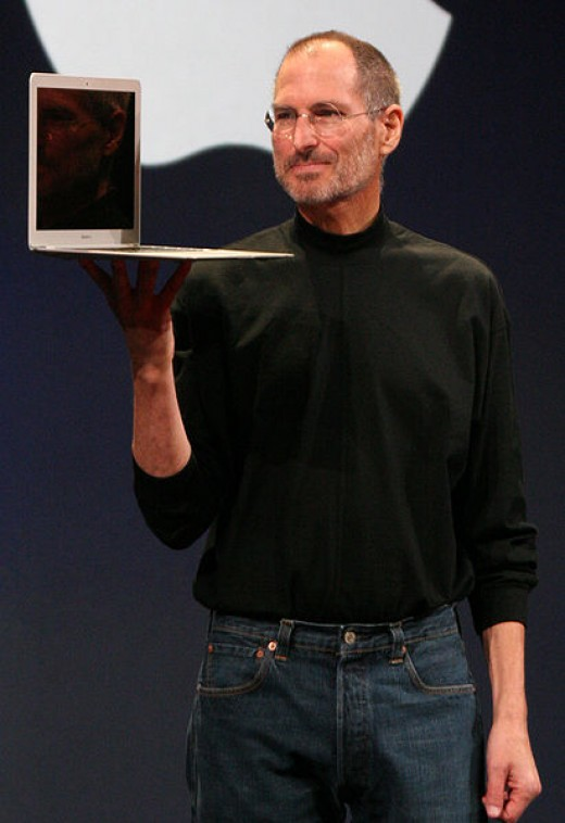 Steve Jobs at the 2008 Mac World Conference and Expo.