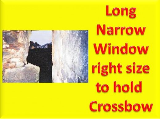 Here is the long narrow window just the right size for a crossbow taken by Debbie Dunn aka DJ Lyons