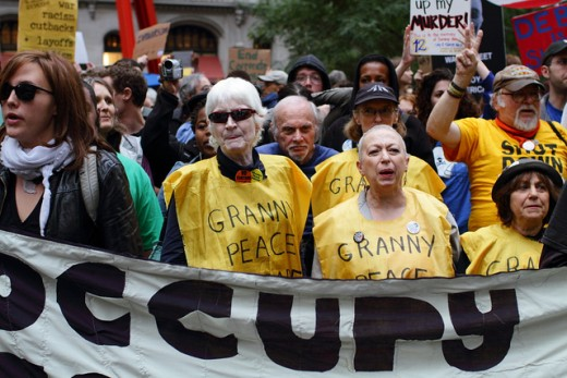 Granny Peace Brigade. Occupy Wall Street, Day 15, October 1st, 2011