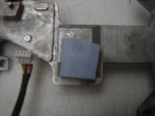 Thermal pad dislocated.