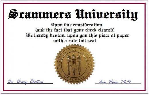 Fake diplomas aren't usually so easy to spot.