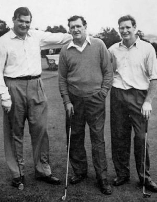 Clyde, Frank and Kerry Packer