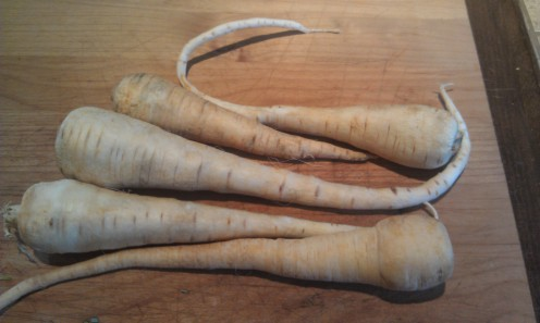 I like to include parsnips with the slow cooker roast