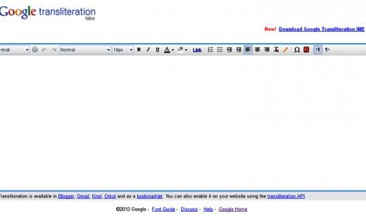 Google Transliteration Hindi Window
