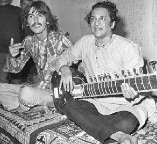 George Harrison and Ravi Shankar in 1967