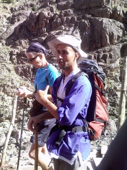 Our trusty guide Mohammed for our Toubkal Trek